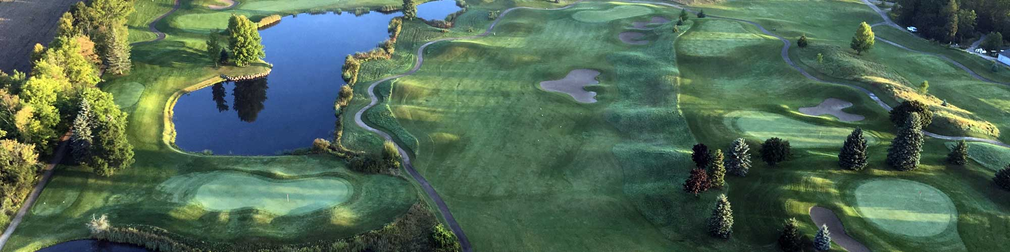 An Aerial view of the golf course.